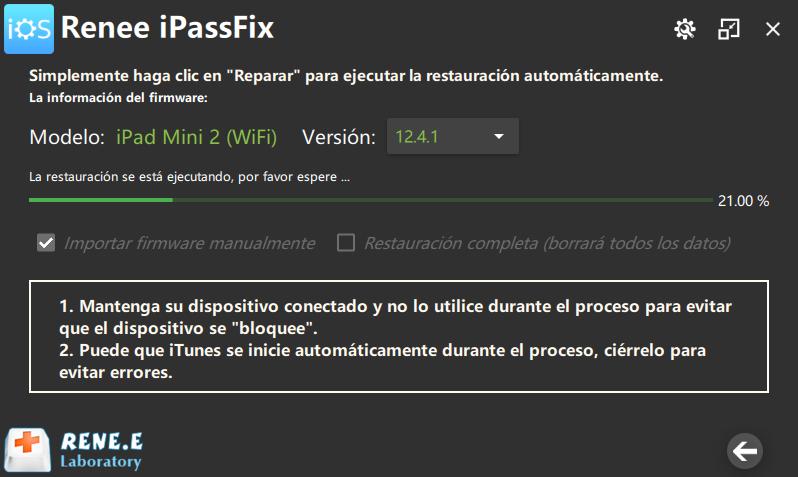 reparar iphone con renee ipassfix