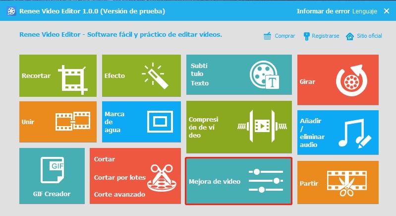 mejorar la calidad de un video con renee video editor