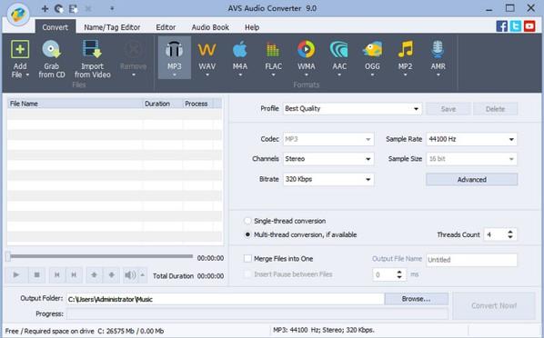 convertir audio ac3 a aac con AVS Audio Converter