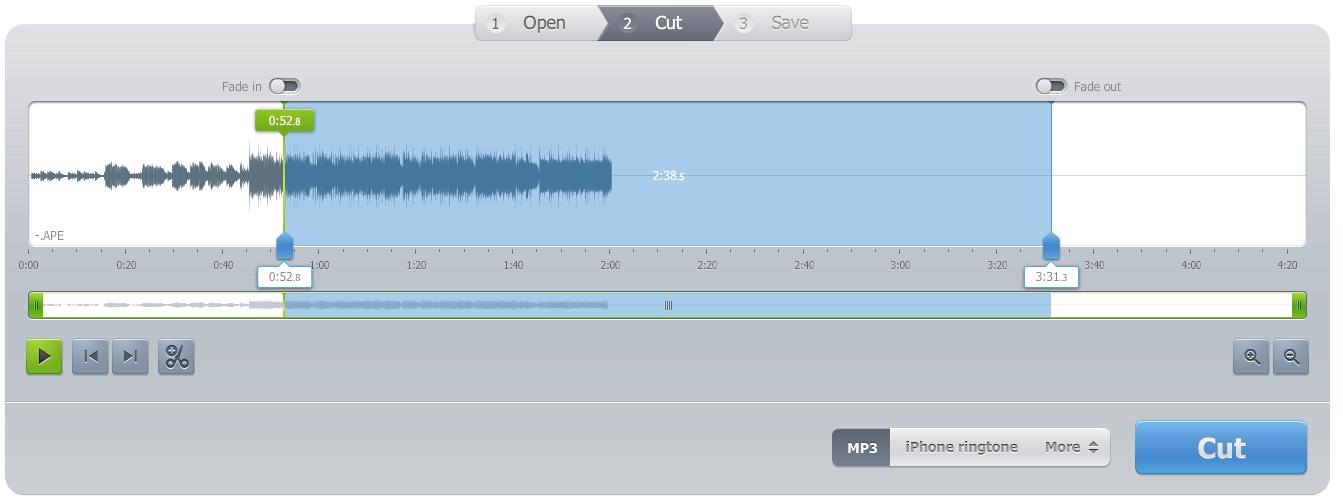 cortar canciones online con Audio Cutter Pro