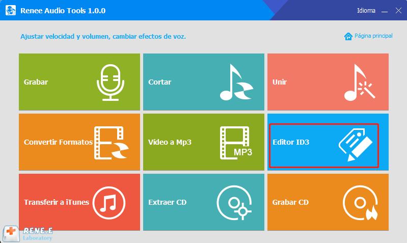 Agregar información de audio con renee audio tools