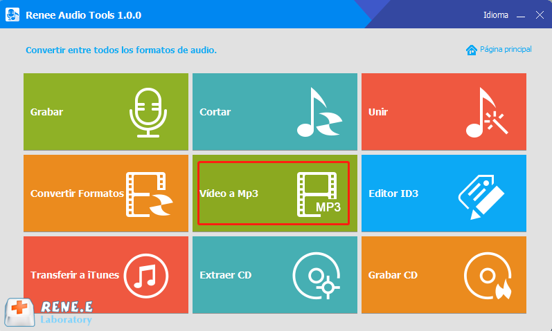 Convertir video a MP3 con renee audio tools