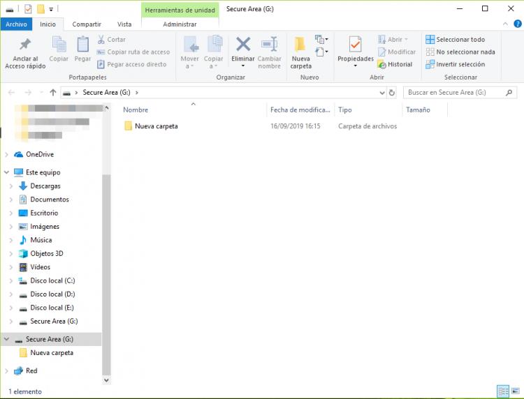 mover archivos al renee securesilo