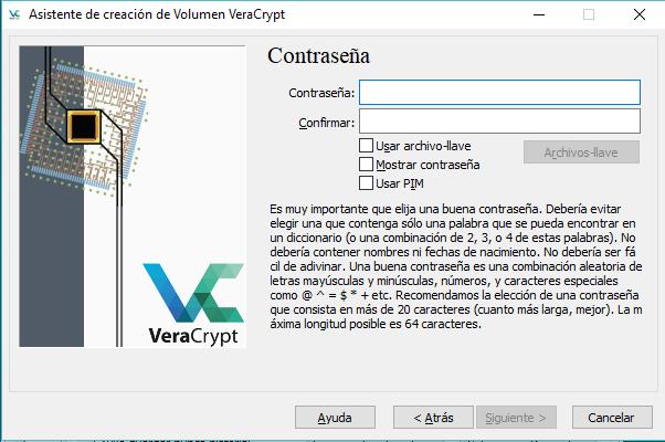 Cifrar el disco duro con VeraCrypt
