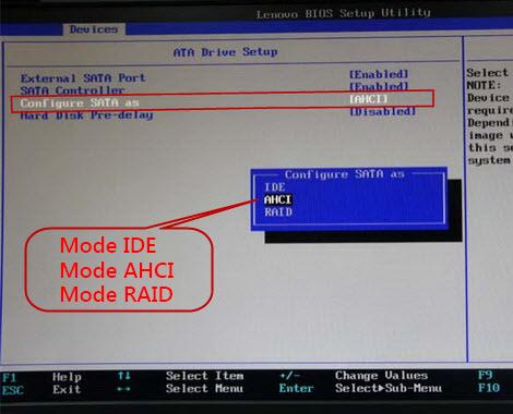 Cómo convertir de IDE a AHCI en BIOS