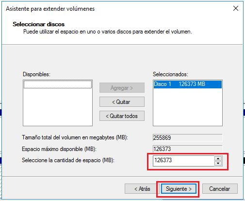 Extender la memoria del disco C por comprimir disco en windows 10