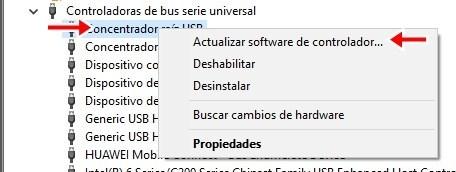 actualizar software de controlador para resolver este dispositivo no puede iniciar. (código 10)