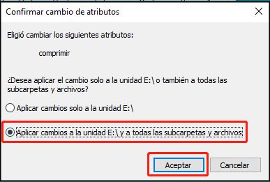 """marque la segunda casilla """"Aplicar cambios a X: unidad, subcarpetas y archivos"""""""
