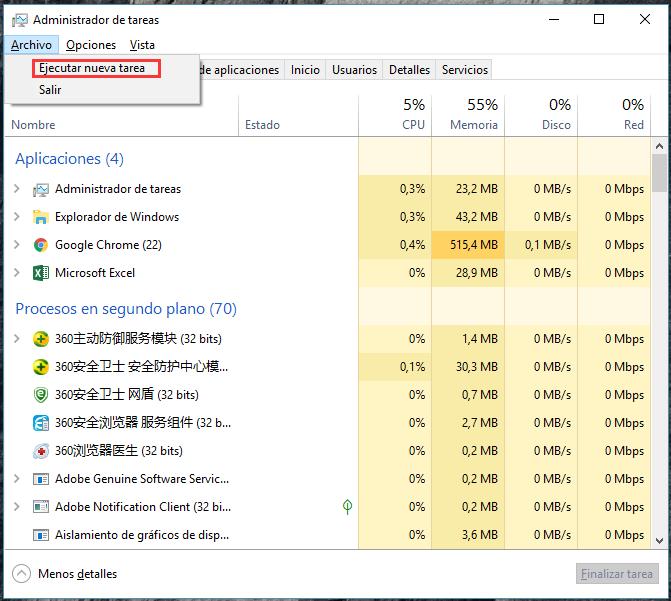 Restablecer la configuración de la aplicación de Windows
