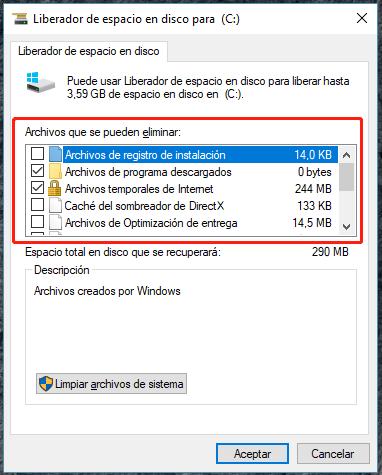 borrar archivos temporales en Windows 10 o Windows 7