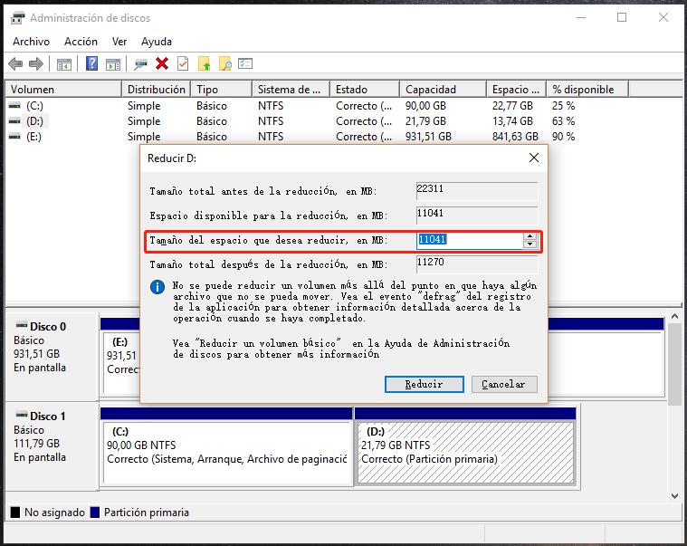 Extender la memoria del disco C por comprimir disco