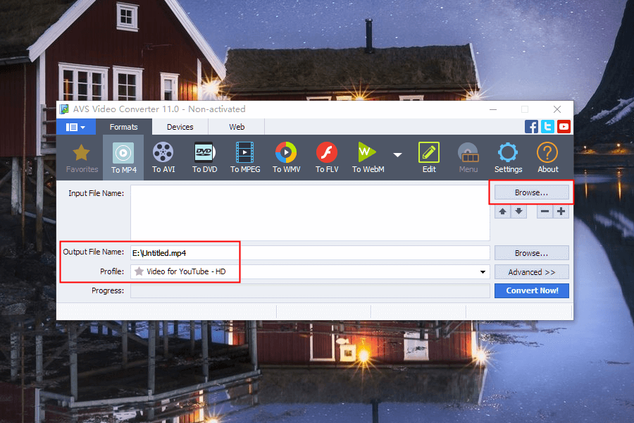 unir videos mp4 con AVS Viedo Converter