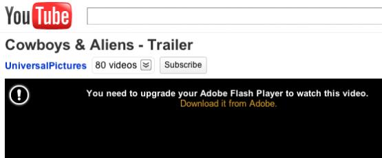 Actualizar o reinstalar Adobe Flash Player si youtube no funciona
