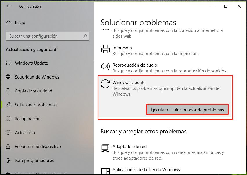 resolver el error 0x8000ffff en Windows 10