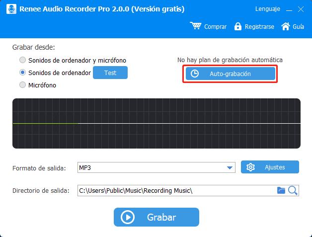 auto grabación en Renee Audio Recorder Pro
