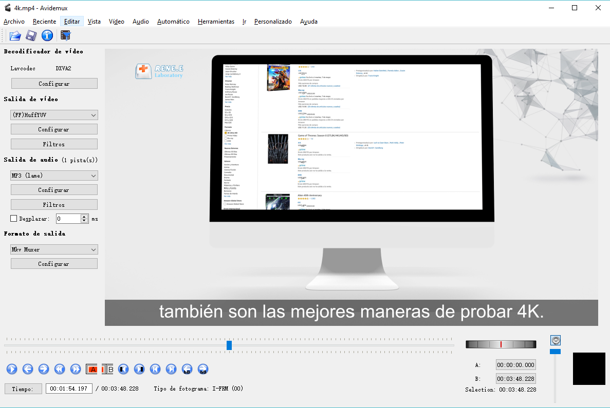 Recortar un video en Windows 10 utilizando Avidemux