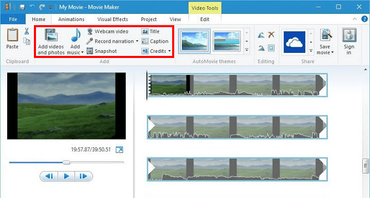 Recortar un video en Windows 10 por Windows Movie Maker