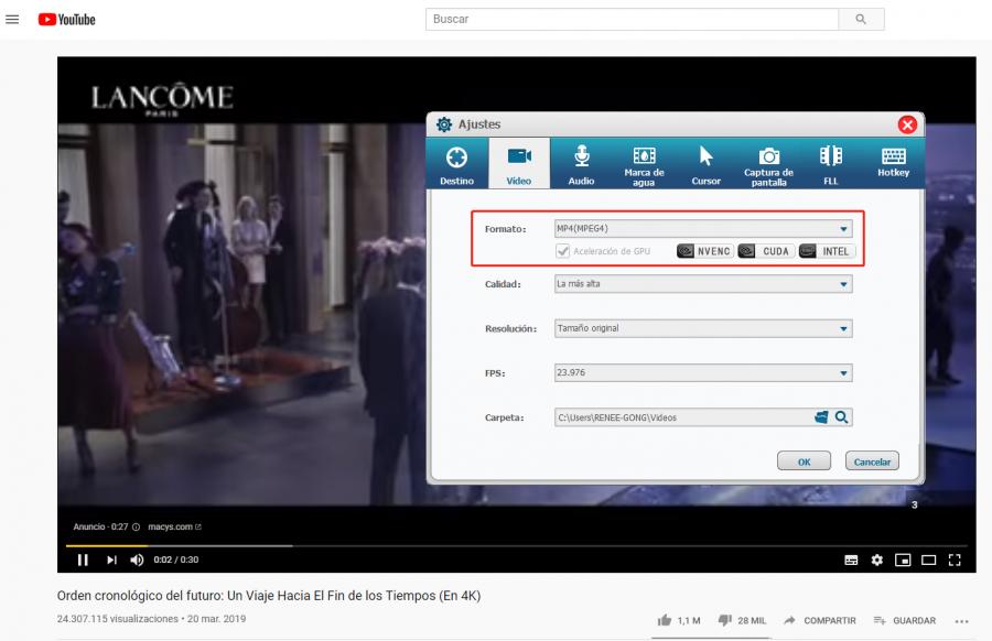 cortar videos de youtube con renee video editor pro