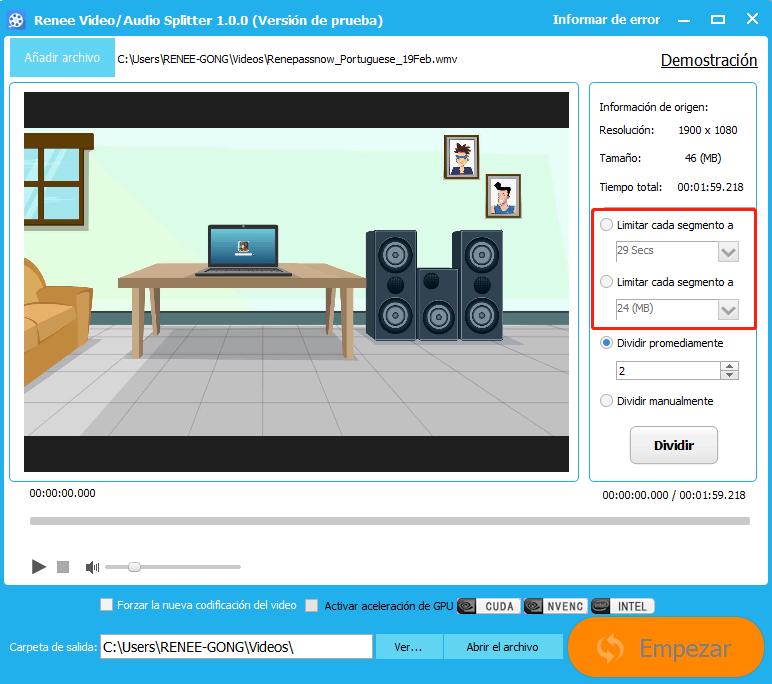 cortador de videos-renee video editor