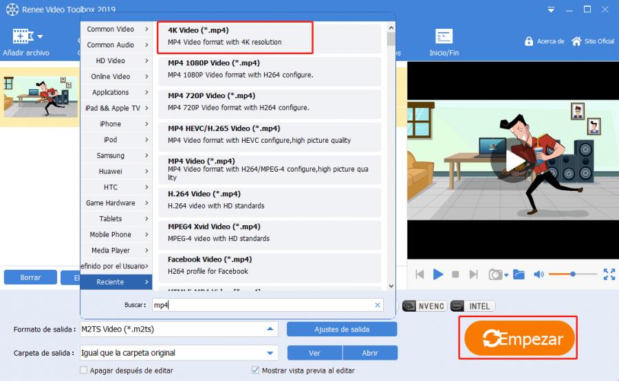 convertir videos m2ts a mp4
