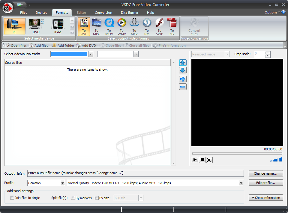 conversor de video VSDC Free Video Editor