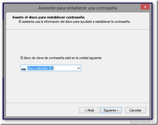 restablecer contraseña windows 10