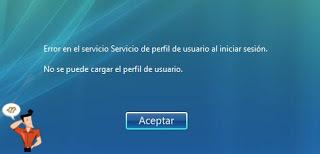 no se puede cargar el perfil de usuario