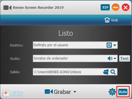 Grabador de pantalla en Renee Video Editor Pro