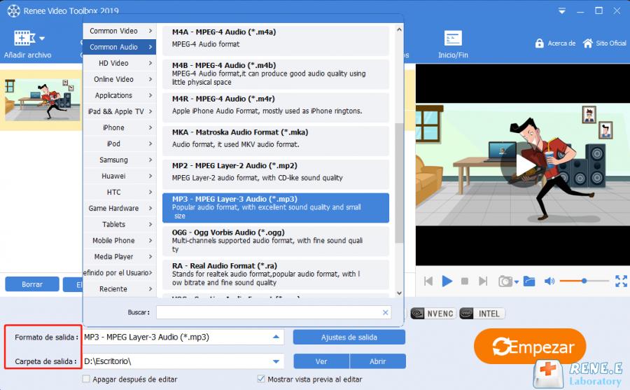 exportar videos unidos con renee video editor pro