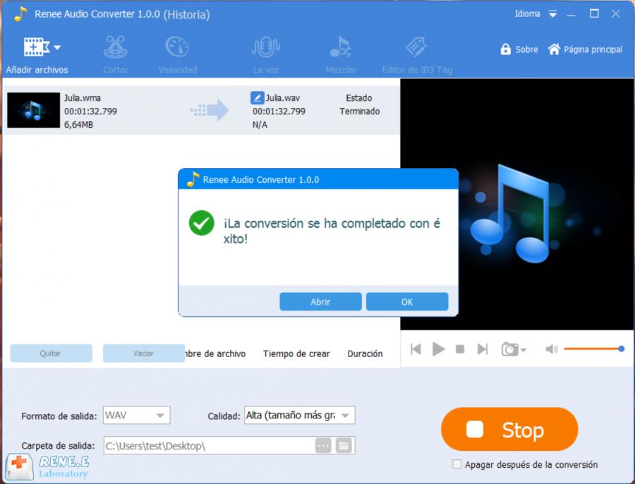 convertir wma a wav con renee audio tools