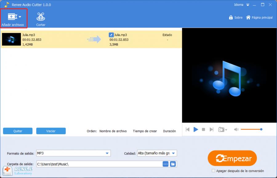 editar tonos para celular con renee audio tools