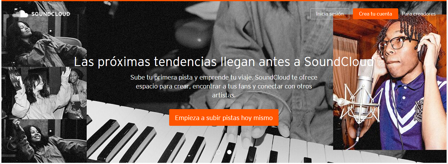 sitios web de música populares
