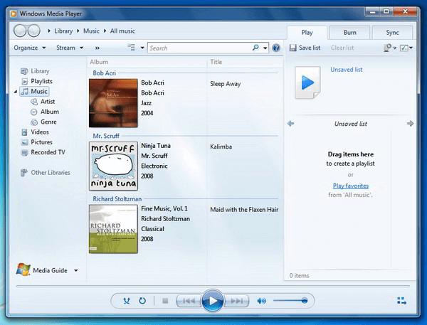 convertir cda a mp3 con Windows Media Player