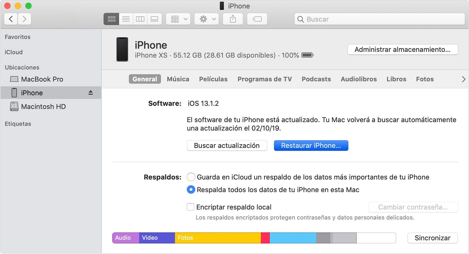 restaurar iphone de fábrica