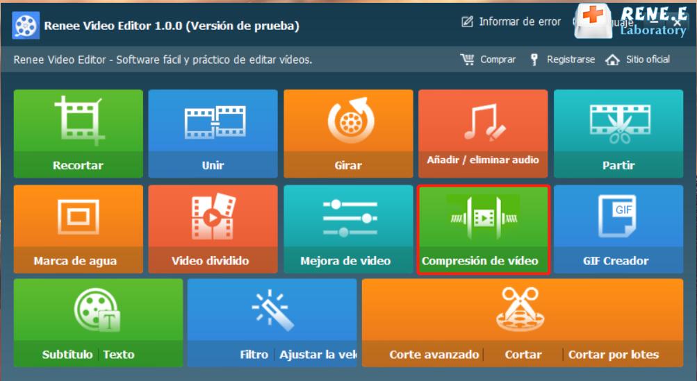 video editor compresión de video