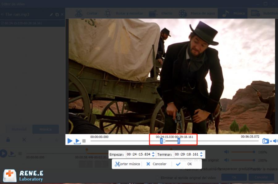 ajustar volumen de video con renee video editor pro