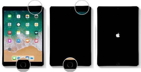 ipad pantalla en blanco