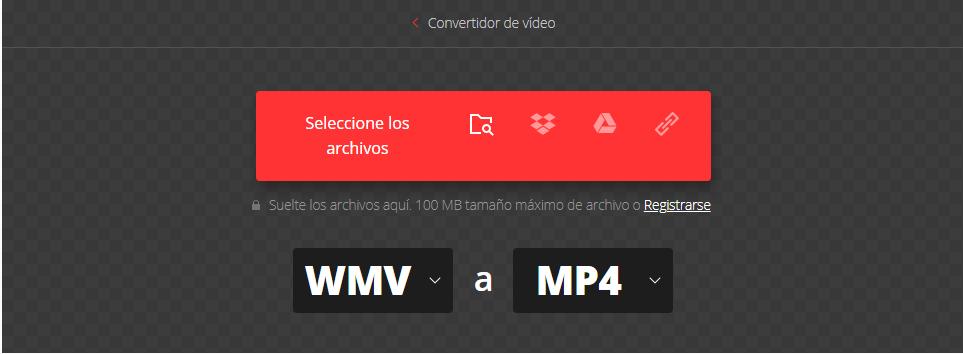 convertir wmv a MP4 online