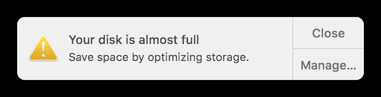 liberar espacio en mac